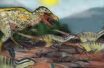 PALEOART- Dino Stampede