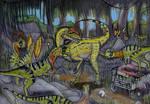 Ingen Dilophosaurus Meets It's Ancestor