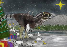 PALEOART (ish): Yutyrannus Christmas 2019