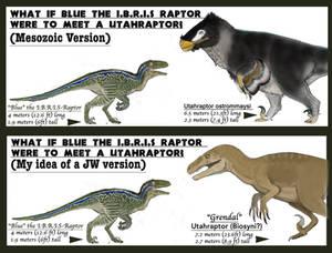 FUN JW WHAT-IF: Blue vs Utahraptor