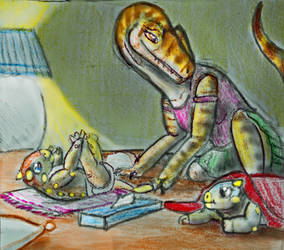 SCU FAN-ART POST 48: Amber Babysitting 3