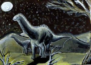 PALEOART: Acrylic Diplodocus