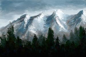Mountain Scene by bliffton