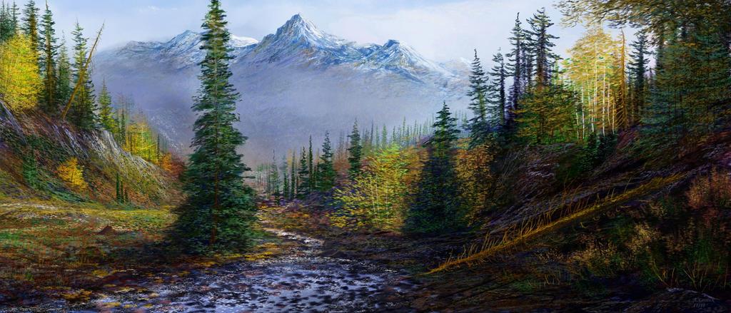 misty Alaska gothic by andrekosslick