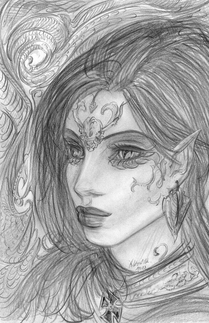 Gothic S Sketch By Andrekosslick