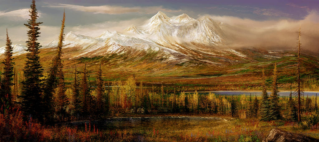 Alaska tundra attempt I by andrekosslick