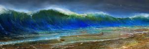 study of the crashing wave