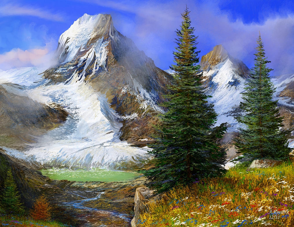 Cartoon Alps Pencil Drawings of Mountains Swiss Alps Clip Art Hannibal ...