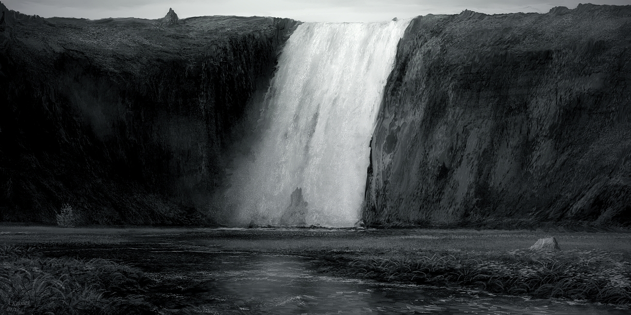 Foss iceland gothic attempt 7a by andrekosslick