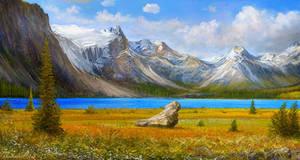 Rocky mountains scene attempt VI