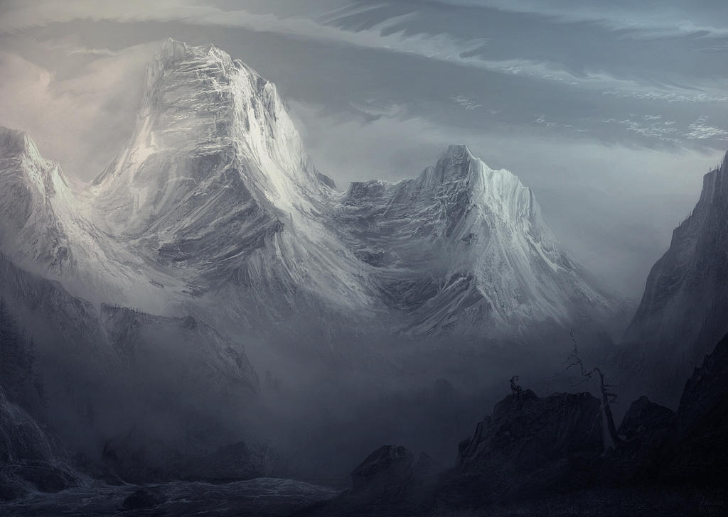 mountain twilight attempt 3 by andrekosslick