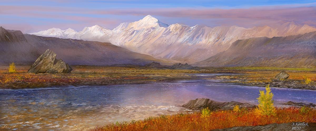 Alaska autumn tundra attempt IX by andrekosslick