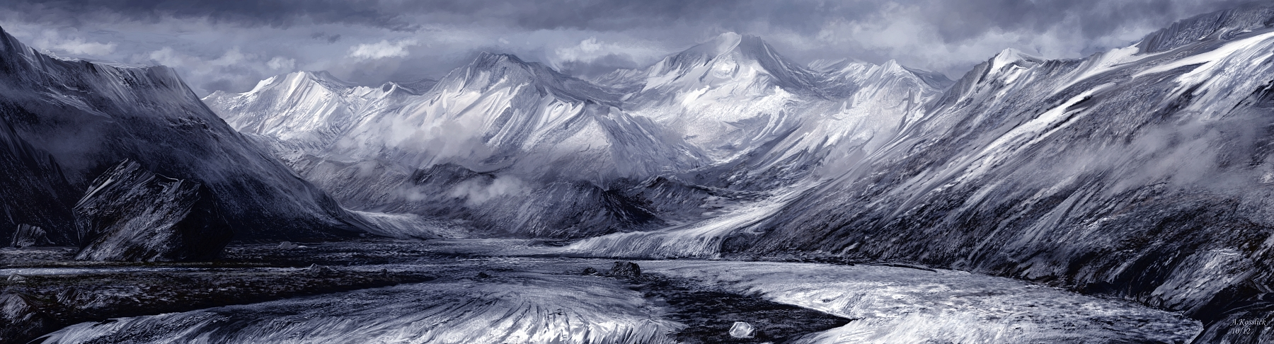 glacial highway attempt 1 by andrekosslick