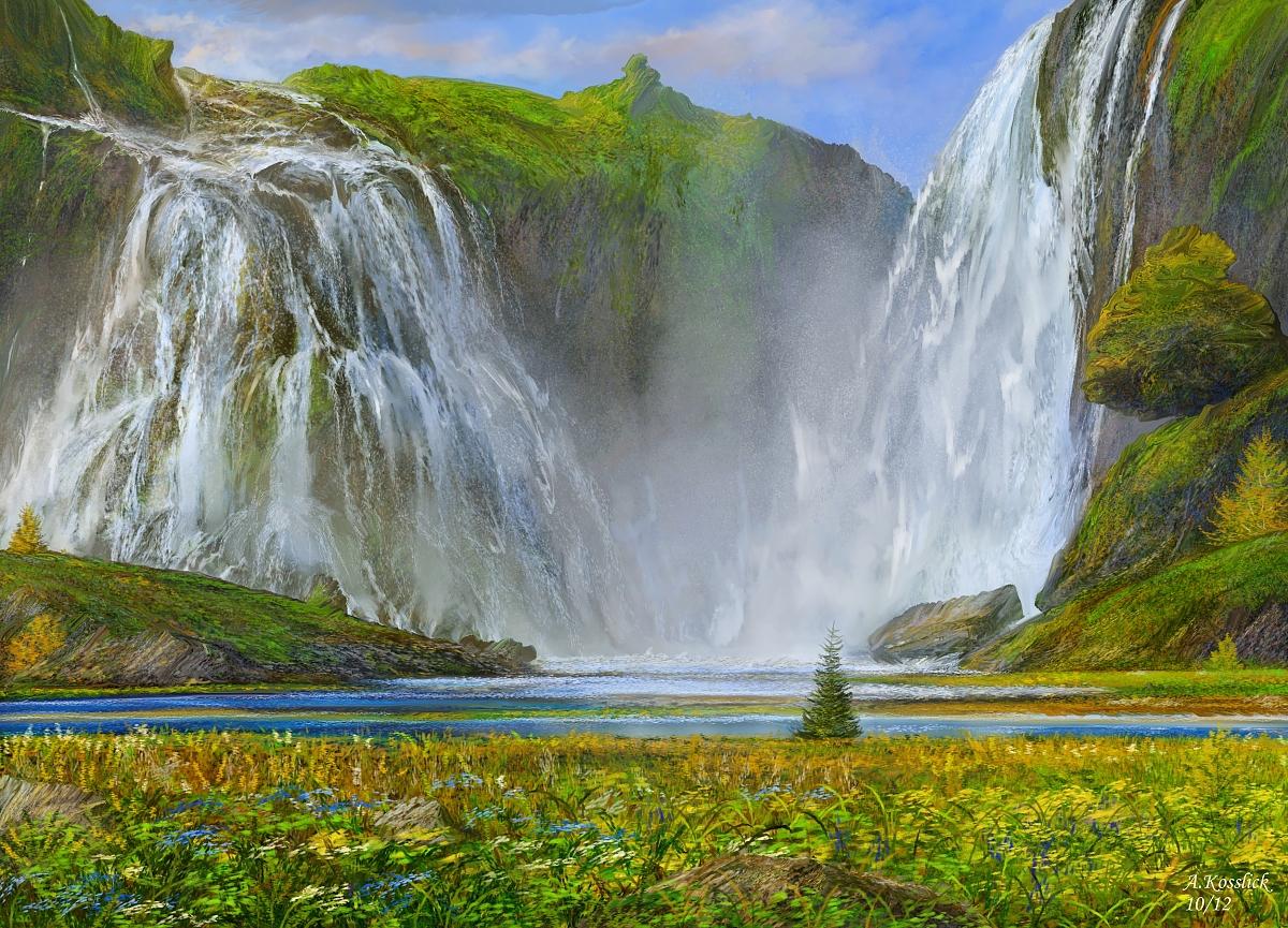Iceland valhalla foss attempt 1 by andrekosslick
