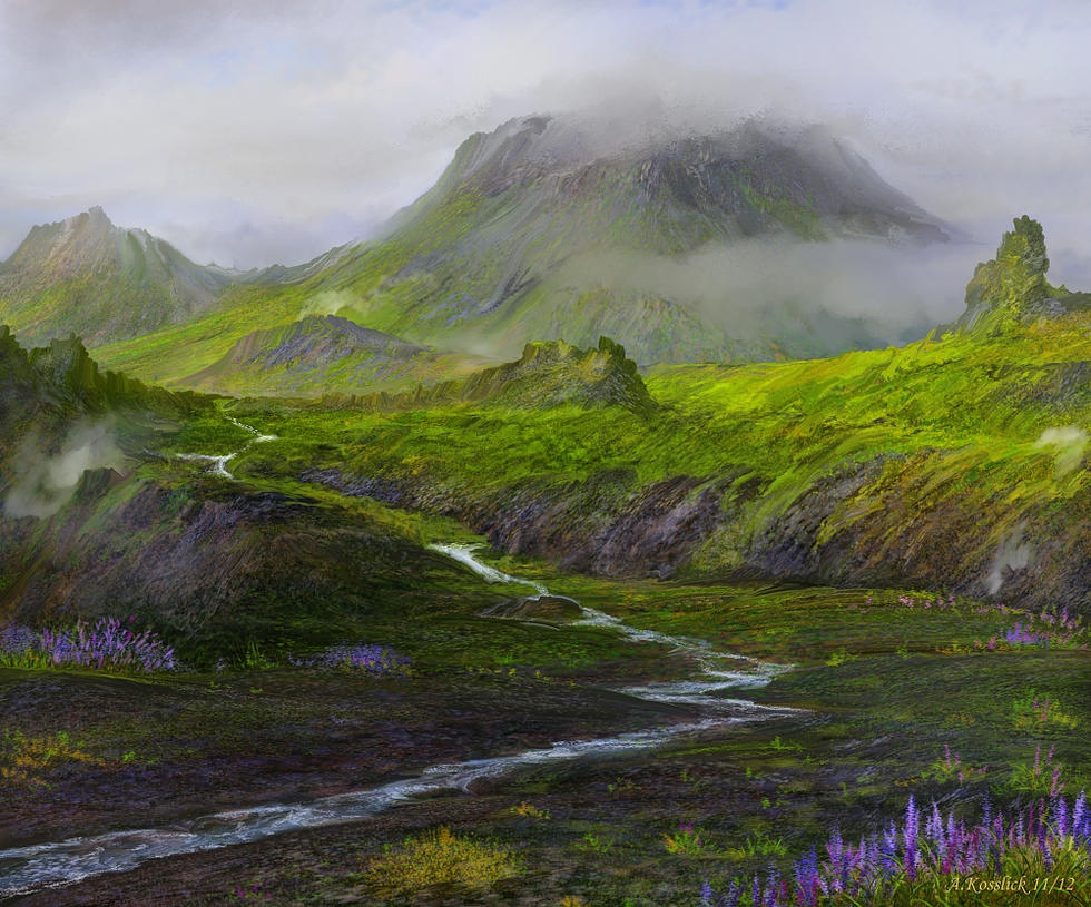 misty iceland ashes valley attempt by andrekosslick