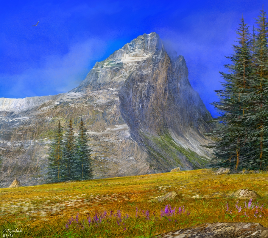 Alps scene attempt 4 by andrekosslick