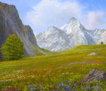 study of mountains 2d1
