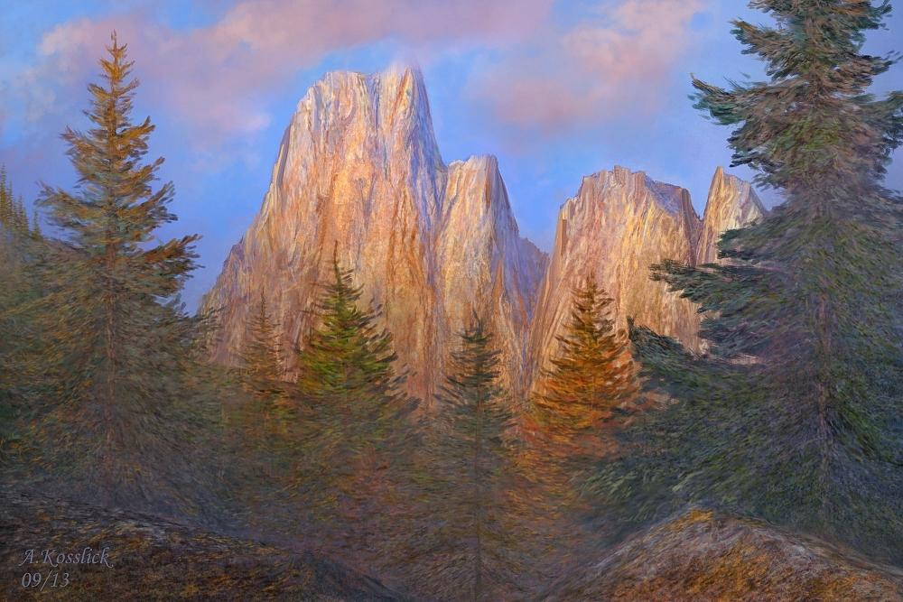 mountain scene attempt xy2 by andrekosslick
