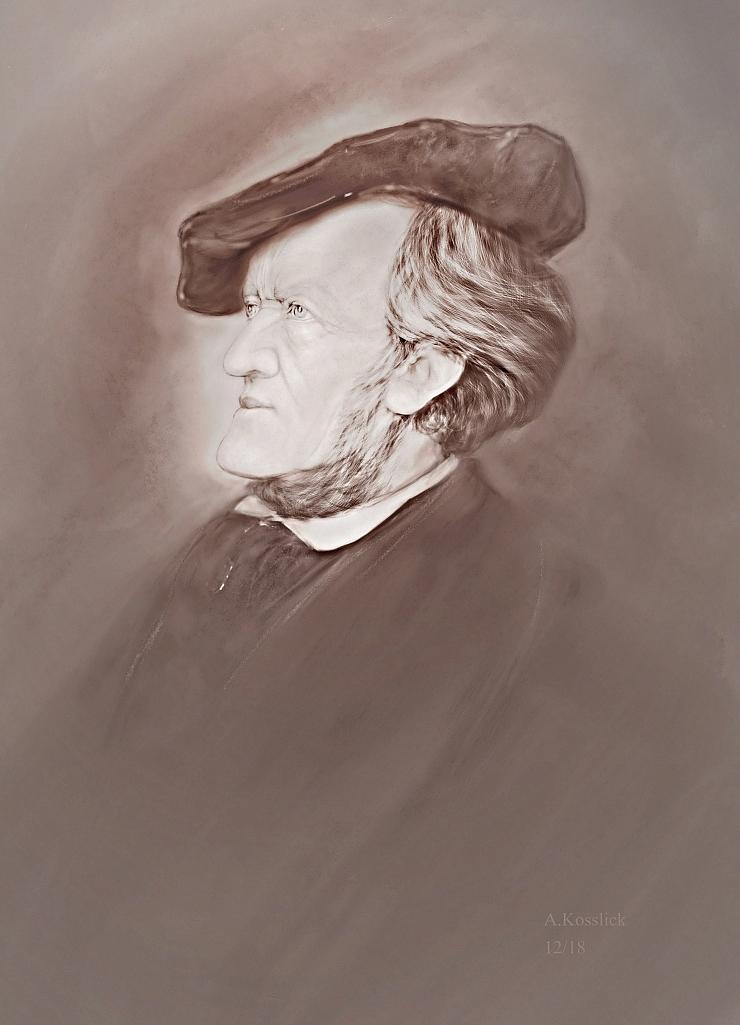 Richard Wagner Studie 1a by andrekosslick