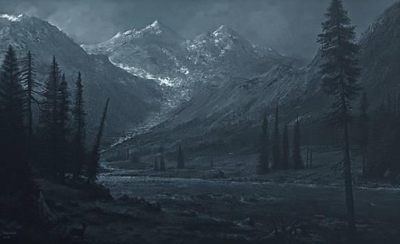 study moonlight mountain twilight 2