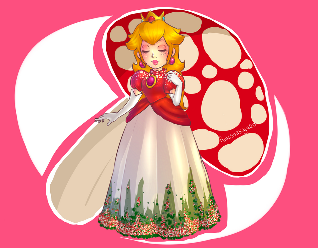 Princess Toadstool by awesomeyuan