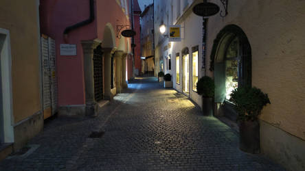 A street in Regensburg, Germany by Koekiemonster