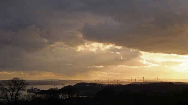 Dark clouds over Edinburgh