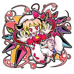 Flandre and Remi doll by sora-amaori