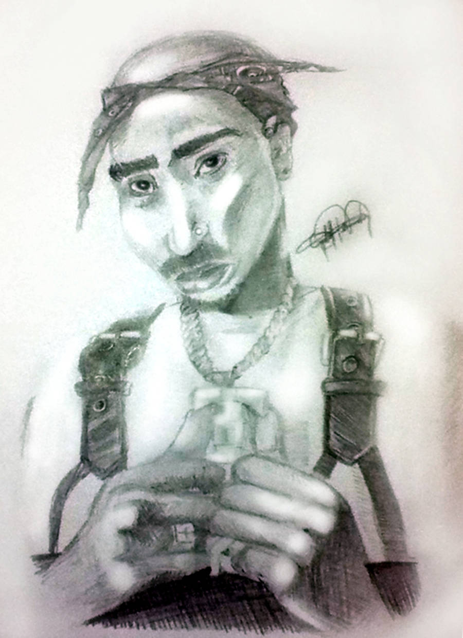 Tupac Shakur by ML-Cloud9