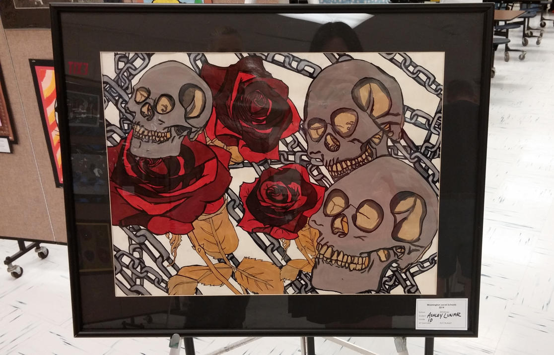 Skulls and Roses by XxLuna98xX