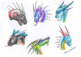 Dragon Heads II by RaikaDeLaNoche