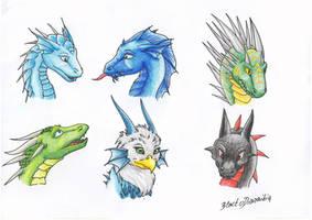 Dragon Heads VII by RaikaDeLaNoche