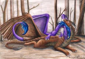 Dragea and Draconniss by RaikaDeLaNoche