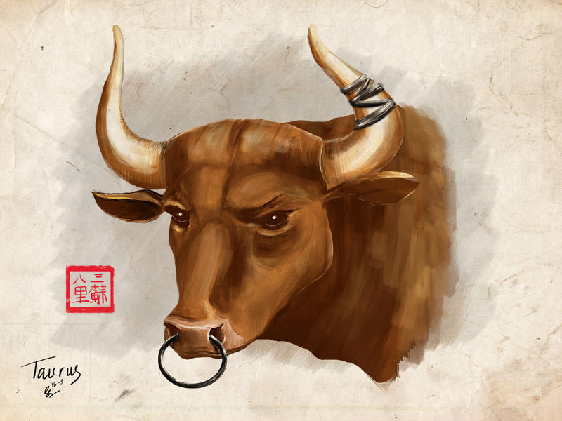 Very Bull Painting (Taurus) by somesoularts on DeviantArt GR06