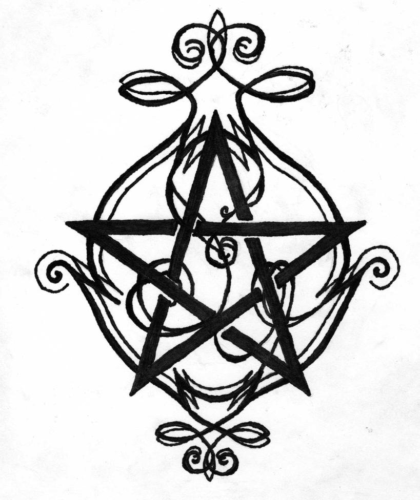 pentagram tattoo design by nymphera on deviantart. Black Bedroom Furniture Sets. Home Design Ideas