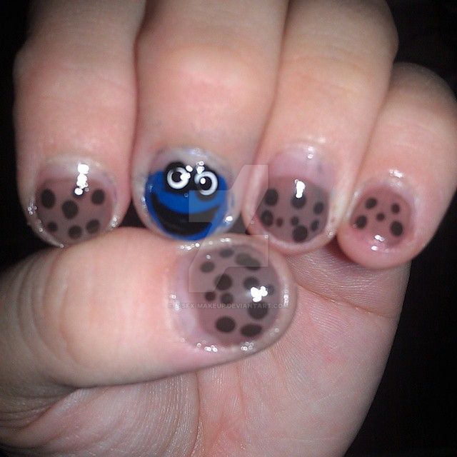 Cookie Monster Nails by J-SFX-Makeup on DeviantArt