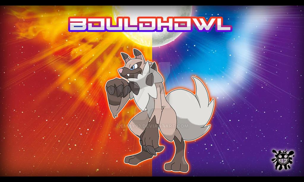 rockruff s evolution bouldhowl by emdy93 on deviantart