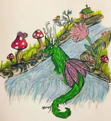 Yavia the Fairy Dragon! by BlueWyst