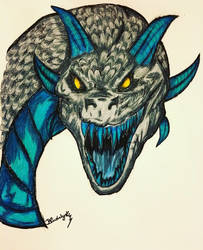 Ether the Evil Winter Dragon! by BlueWyst