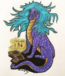 Gaela the Wizard Dragon! by BlueWyst