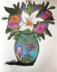 Mermay Day 4: Floral! by BlueWyst