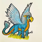 Oxi The Feathered Drake OC - Art Attack!