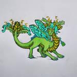 Green Mint Tea Dragon! by BlueWyst