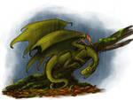 Dragon Cave - Olive dragon