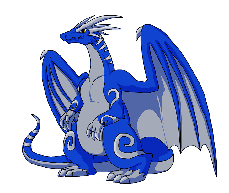 royal blue dragon