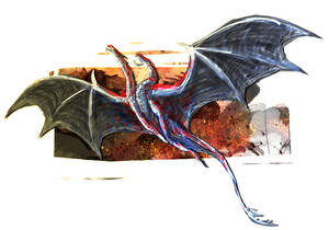 Dragon Cave - Gilded Bloodscale Dragon