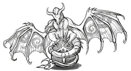 Dragon Cave - Vampire sketch