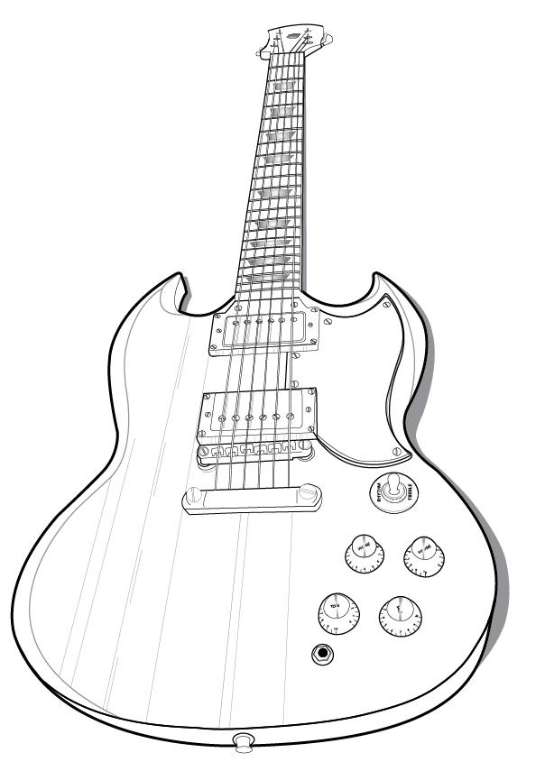guitar vector outline by nicollemariemiller on deviantart