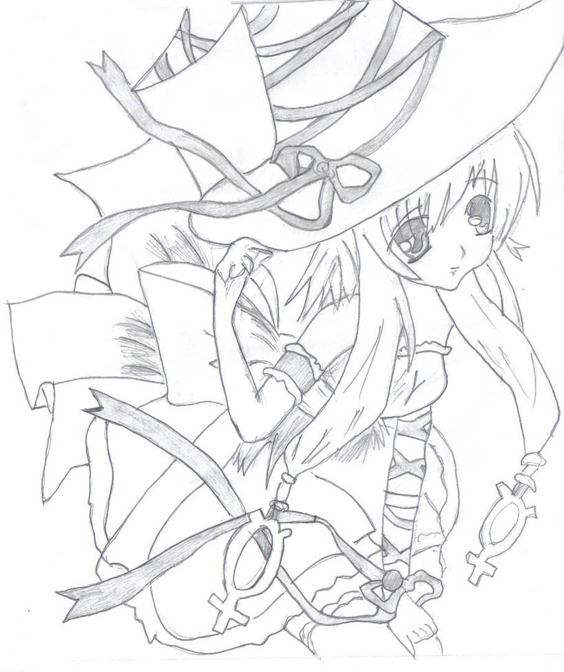 Anime witch girl by firepower2010 on deviantart