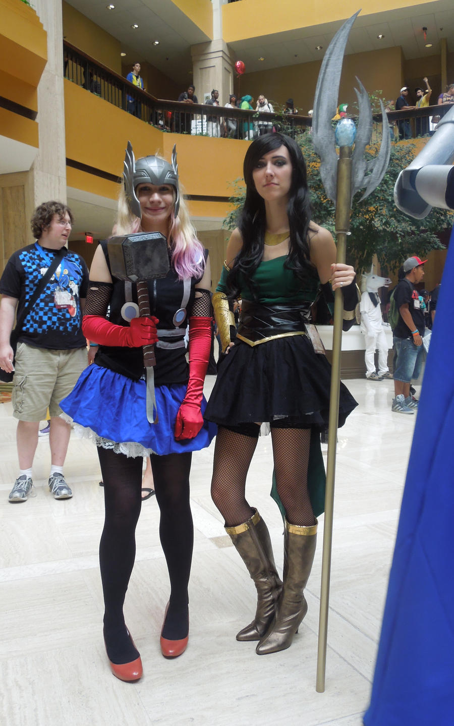 Fem!Thor and Fem!Loki by Anatyla